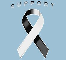 Black & White Awareness Ribbon of Support Unisex T-Shirt