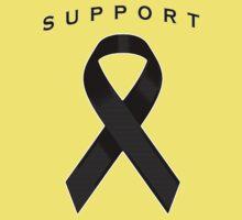 Black Awareness Ribbon of Support Kids Tee