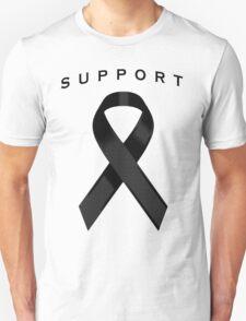Black Awareness Ribbon of Support T-Shirt