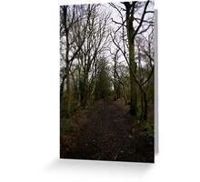 walk to the end Greeting Card