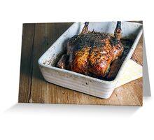 Roast Chicken Dinner  Greeting Card