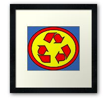 Hero, Heroine, Superhero, Super Recycling Framed Print