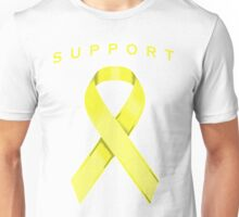 Yellow Awareness Ribbon of Support Unisex T-Shirt