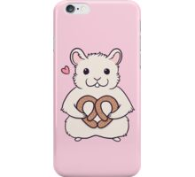 I love you more than this hamster loves pretzels iPhone Case/Skin