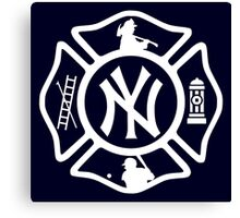 FDNY - Yankees style Canvas Print