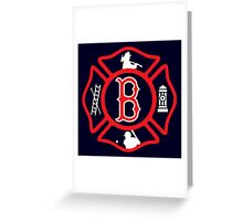 Boston Fire - Red Sox style Greeting Card