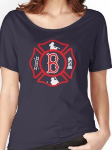Boston Fire - Red Sox style Women's Relaxed Fit T-Shirt
