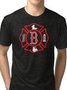 Boston Fire - Red Sox style Tri-blend T-Shirt