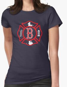 Boston Fire - Red Sox style Womens Fitted T-Shirt