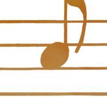 'A' musical note Sticker