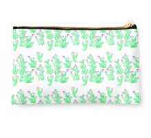 Prickly Pear Spring - White Studio Pouch