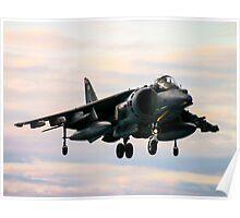RAF Harrier landing Poster