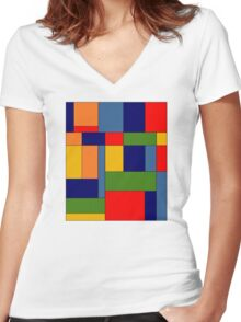 Abstract #348 Women's Fitted V-Neck T-Shirt
