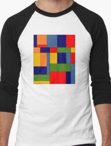 Abstract #348 Men's Baseball ¾ T-Shirt