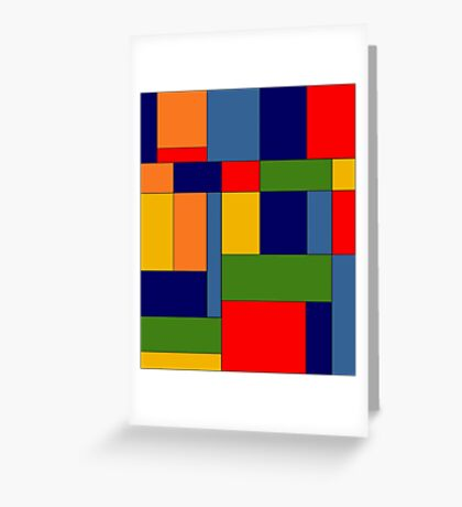 Abstract #348 Greeting Card
