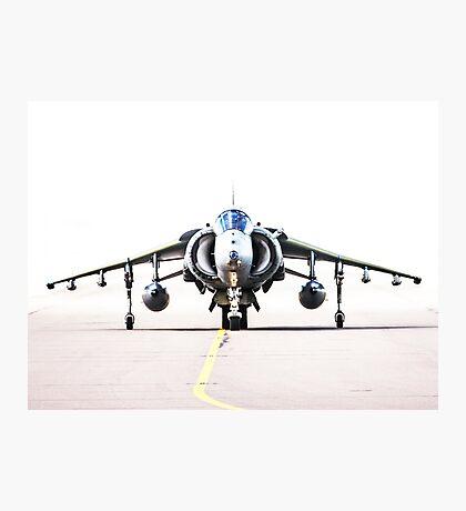 RAF Harrier head-on Photographic Print