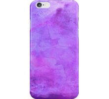 Purple Lavender Watercolor Painting Background iPhone Case/Skin