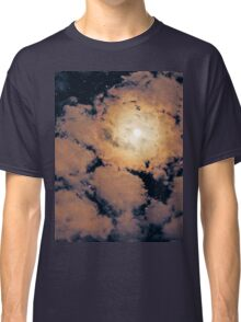 Full moon through purple clouds Classic T-Shirt