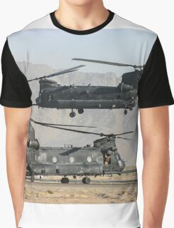 US Army Chinook MH-47D pair Graphic T-Shirt