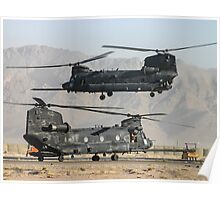 US Army Chinook MH-47D pair Poster
