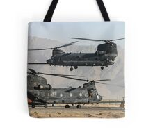 US Army Chinook MH-47D pair Tote Bag