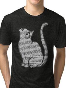 Book Cat Tri-blend T-Shirt