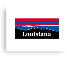 Louisiana Red White And Blue Canvas Print