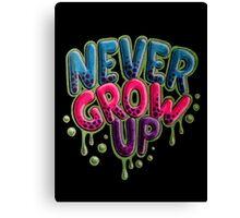 Never Grow Up [Black] Canvas Print
