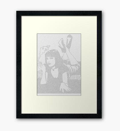 Pulp Fiction Mia Script Framed Print