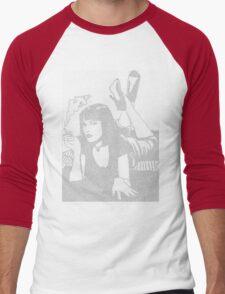 Pulp Fiction Mia Script Men's Baseball ¾ T-Shirt