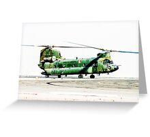 Dutch CH-47 Chinook Greeting Card