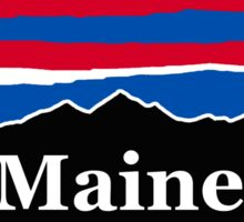 Maine Red White and Blue Sticker