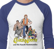 Chuck Norris and the Karate Kommandos - FullTeam - Black Font Men's Baseball ¾ T-Shirt