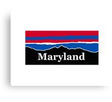 Maryland Red White and Blue  Canvas Print