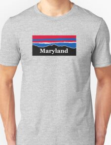 Maryland Red White and Blue  Unisex T-Shirt