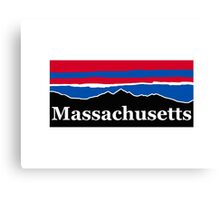 Massachusetts Red White and Blue Canvas Print