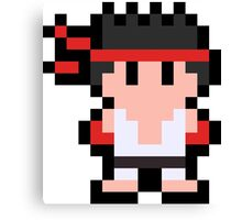 Pixel Ryu Canvas Print