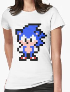 Pixel Sonic the Hedgehog Womens Fitted T-Shirt