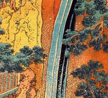 'Waterfalls In All Provinces 2' by Katsushika Hokusai (Reproduction) Sticker