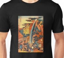 'Waterfalls In All Provinces 2' by Katsushika Hokusai (Reproduction) Unisex T-Shirt