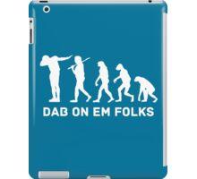 Dab evolution white iPad Case/Skin