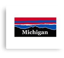 Michigan Red White and Blue Canvas Print