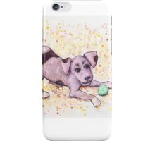 Playful Puppy with Tennis Ball iPhone Case/Skin