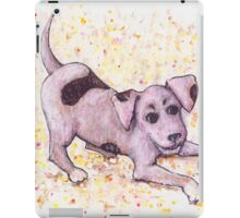 Playful Puppy with Tennis Ball iPad Case/Skin