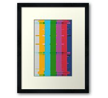 Retro TV Test Card Pattern Interference Framed Print