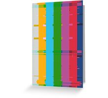 Retro TV Test Card Pattern Interference Greeting Card
