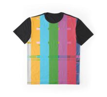 Retro TV Test Card Pattern Interference Graphic T-Shirt