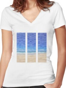 Summertime Blues Women's Fitted V-Neck T-Shirt