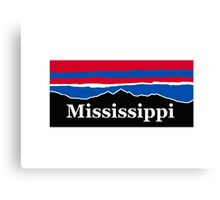 Mississippi Red White and Blue Canvas Print