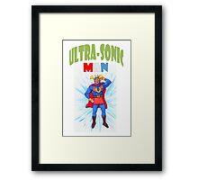 Ultrasonic Man Framed Print